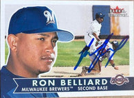 Ronnie Belliard Signed 2001 Fleer Tradition Baseball Card - Milwaukee Brewers