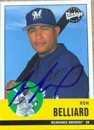 Ronnie Belliard Signed 2001 Upper Deck Vintage Baseball Card - Milwaukee Brewers
