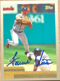 Fernando Vina Signed 2000 Topps Baseball Card - Milwaukee Brewers