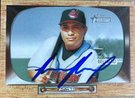 Ronnie Belliard Signed 2004 Bowman Heritage Baseball Card - Cleveland Indians
