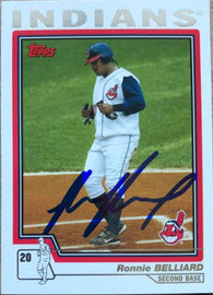 Ronnie Belliard Signed 2004 Topps Baseball Card - Cleveland Indians