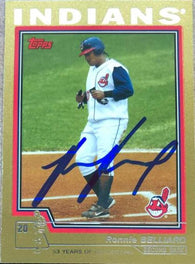 Ronnie Belliard Signed 2004 Topps Gold Baseball Card - Cleveland Indians