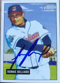 Ronnie Belliard Signed 2005 Bowman Heritage Baseball Card - Cleveland Indians