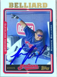 Ronnie Belliard Signed 2005 Topps Baseball Card - Cleveland Indians