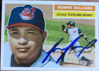 Ronnie Belliard Signed 2005 Topps Heritage Baseball Card - Cleveland Indians