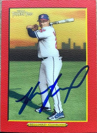 Ronnie Belliard Signed 2005 Topps Turkey Red Baseball Card - Cleveland Indians (Red)
