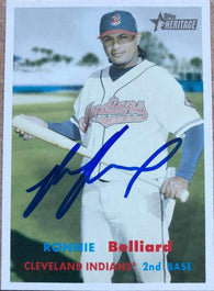 Ronnie Belliard Signed 2006 Topps Heritage Baseball Card - Cleveland Indians