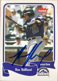 Ronnie Belliard Signed 2004 Fleer Tradition Baseball Card - Colorado Rockies