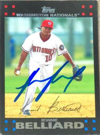 Ronnie Belliard Signed 2007 Topps Baseball Card - Washington Nationals