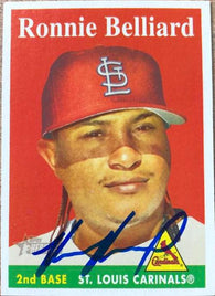 Ronnie Belliard Signed 2007 Topps Heritage Baseball Card - St Louis Cardinals