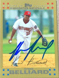 Ronnie Belliard Signed 2007 Topps Gold Baseball Card - Washington Nationals
