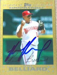 Ronnie Belliard Signed 2007 Topps Updates Gold Baseball Card - Washington Nationals