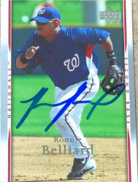 Ronnie Belliard Signed 2007 Upper Deck Baseball Card - Washington Nationals #1019