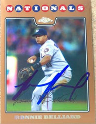 Ronnie Belliard Signed 2008 Topps Copper Refactor Baseball Card - Washington Nationals