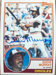 Eddie Murray Signed 1983 Topps Baseball Card - Baltimore Orioles