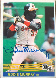 Eddie Murray Signed 1984 Donruss Baseball Card - Baltimore Orioles