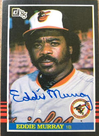 Eddie Murray Signed 1985 Donruss Baseball Card - Baltimore Orioles