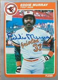 Eddie Murray Signed 1985 Fleer Baseball Card - Baltimore Orioles
