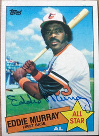 Eddie Murray Signed 1985 Topps Baseball Card - Baltimore Orioles