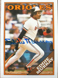 Eddie Murray Signed 1988 Topps Baseball Card - Baltimore Orioles