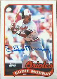 Eddie Murray Signed 1989 Topps Baseball Card - Baltimore Orioles
