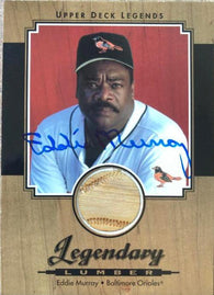 Eddie Murray Signed 2001 Upper Deck Legendary Lumber Baseball Card - Baltimore Orioles