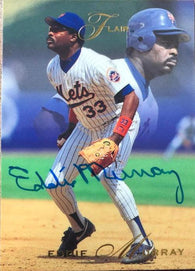 Eddie Murray Signed 1993 Flair Baseball Card - New York Mets