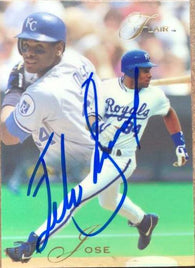 Felix Jose Signed 1993 Flair Baseball Card - Kansas City Royals