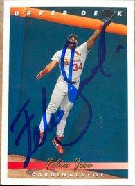 Felix Jose Signed 1993 Upper Deck Baseball Card - St Louis Cardinals