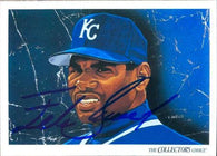 Felix Jose Signed 1993 Upper Deck Baseball Card - Kansas City Royals