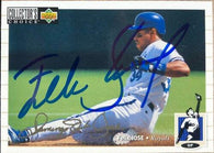Felix Jose Signed 1994 Collector's Choice Silver Signature Baseball Card - Kansas City Royals