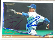 Felix Jose Signed 1994 Topps Gold Baseball Card - Kansas City Royals