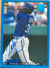 Felix Jose Signed 1995 Collector's Choice Baseball Card - Kansas City Royals