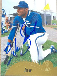 Felix Jose Signed 1995 Pinnacle Baseball Card - Kansas City Royals