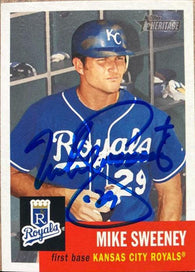 Mike Sweeney Signed 2002 Topps Heritage Baseball Card - Kansas City Royals