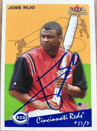 Jose Rijo Signed 2002 Fleer Tradition Baseball Card - Cincinnati Reds