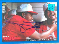 Jose Rijo Signed 1995 Collectors Choice SE Baseball Card - Cincinnati Reds