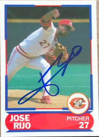 Jose Rijo Signed 1989 Score Superstars Baseball Card - Cincinnati Reds