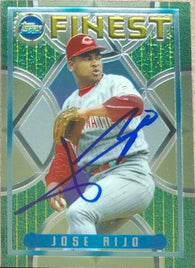 Jose Rijo Signed 1995 Topps Finest Baseball Card - Cincinnati Reds