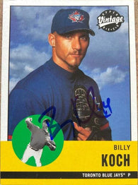 Billy Koch Signed 2001 Upper Deck Vintage Baseball Card - Toronto Blue Jays