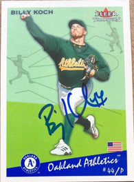 Billy Koch Signed 2002 Fleer Tradition Baseball Card - Oakland A's