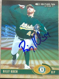 Billy Koch Signed 2003 Donruss Stat Line Career Baseball Card - Oakland A's