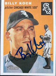 Billy Koch Signed 2003 Topps Heritage Baseball Card - Chicago White Sox