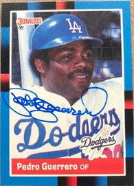 Pedro Guerrero Signed 1988 Donruss Baseball Card - Los Angeles Dodgers