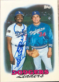 Pedro Guerrero Signed 1988 Topps Tiffany Baseball Card - Los Angeles Dodgers Leaders