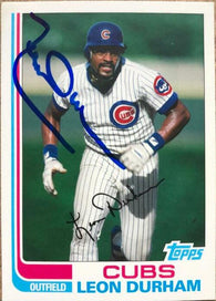Leon Durham Signed 2013 Topps Archives Baseball Card - Chicago Cubs