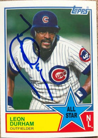Leon Durham Signed 2013 Topps Archives All-Stars Baseball Card - Chicago Cubs