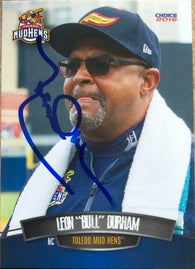 Leon Durham Signed 2016 Choice Baseball Card - Toledo Mud Hens