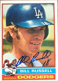 Bill Russell Signed 1976 Topps Baseball Card - Los Angeles Dodgers