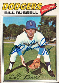 Bill Russell Signed 1977 Topps Baseball Card - Los Angeles Dodgers